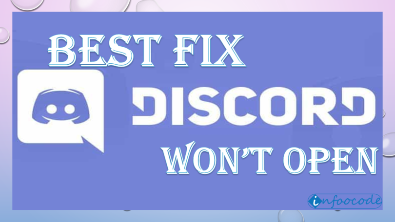 discord wont open fix