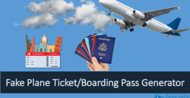 fake boarding pass generator