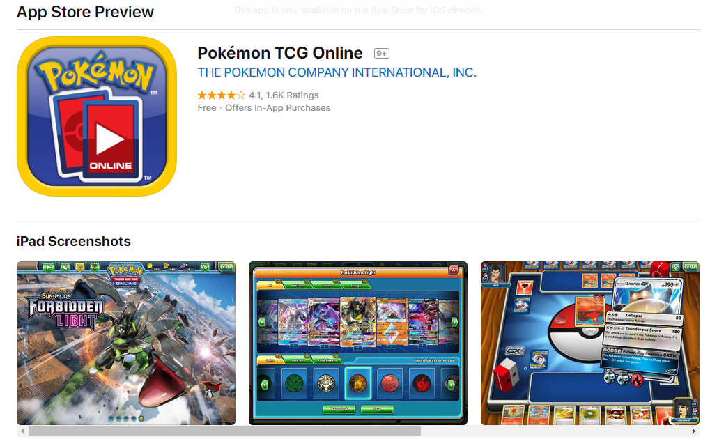 pokemon card maker IOS app