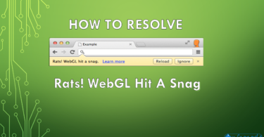 Rats WebGL Hit A Snag Error solve