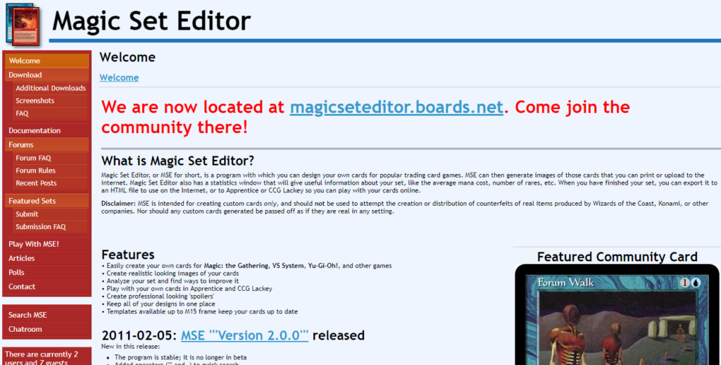 Magic set editor