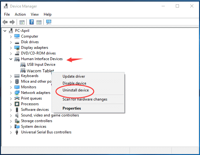 Kmode Exception not handled device manager