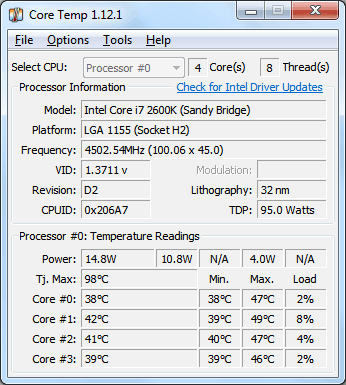 Tools to Stress Test Your PC Core Temp
