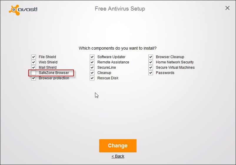 Uninstall Avast SafeZone Browser avast-setup-remove-safezone step 1
