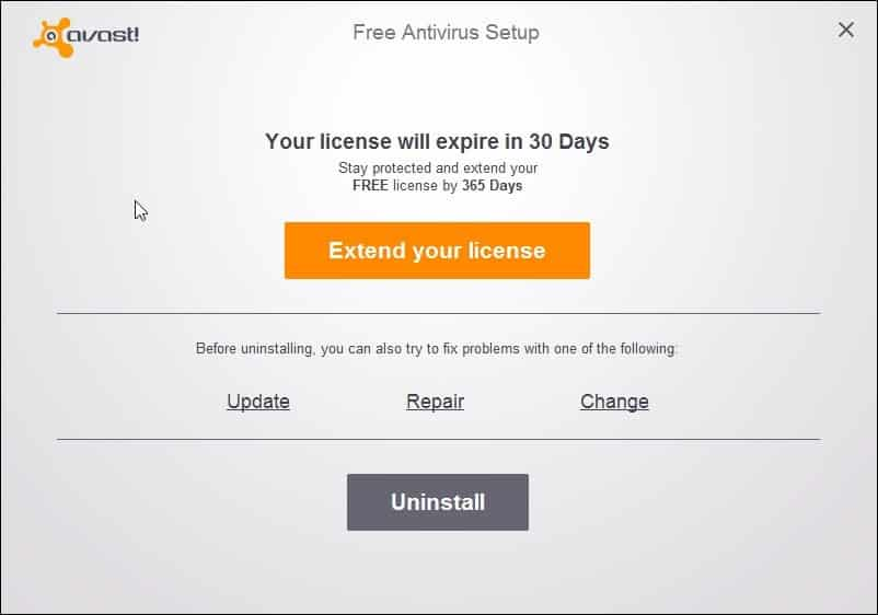 Uninstall Avast SafeZone Browser avast-setup-remove-safezone
