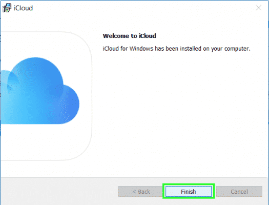 iCloud for windows 10 step 5