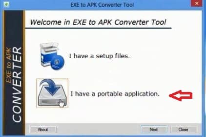 select-portable-application-to-convert